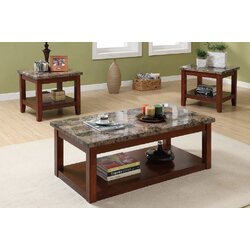 Living Room 3 Piece Table Sets a&j homes studio hudson 3 piece coffee table set & reviews | wayfair
