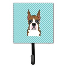 Checkerboard Boxer Leash Leash Holder and Wall Hook by Caroline's Treasures