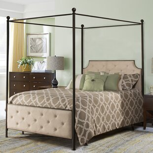 Lyons Upholstered Canopy Bed by Red Barrel Studio