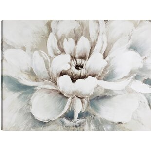 White flower painting wayfair the white flower oil painting print on wrapped canvas mightylinksfo