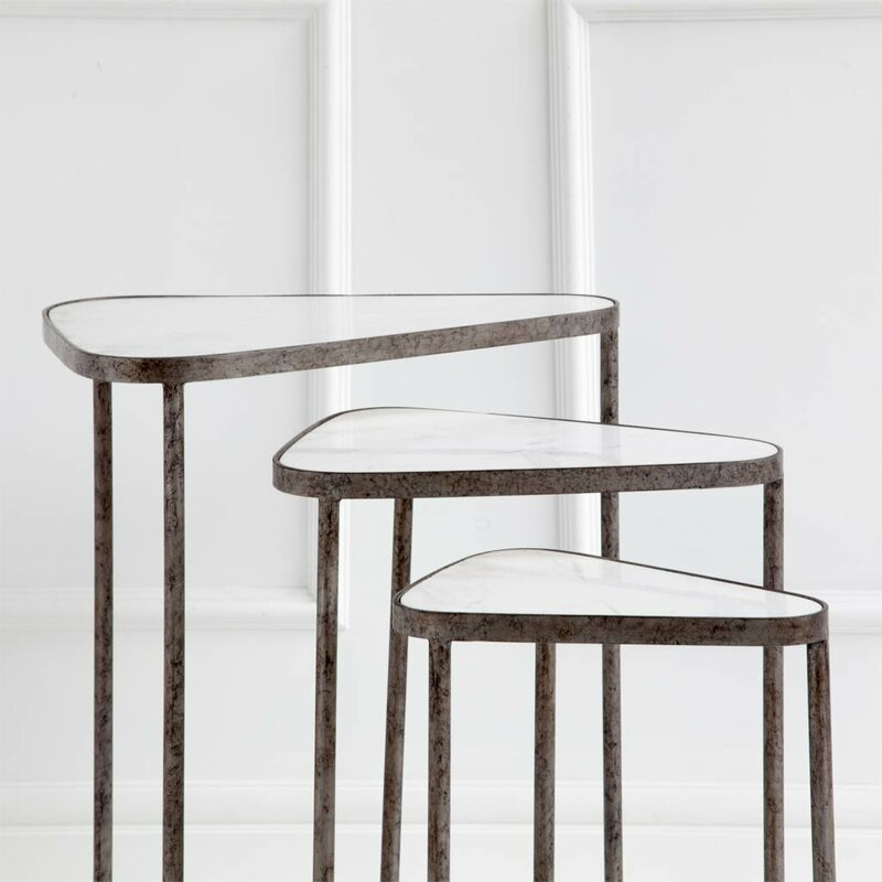 Brayden Studio Lisk Tribus 3 Piece Nesting Tables