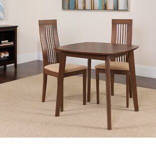 Hulett 3 Piece Solid Wood Dining Set by Winston Porter