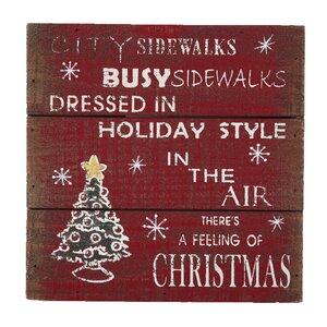 'There is a Feeling of Christmas' Graphic Art Plaque by The Holiday Aisle