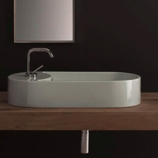Buying Seventy Ceramic Oval Vessel Bathroom Sink with Overflow By Scarabeo by Nameeks