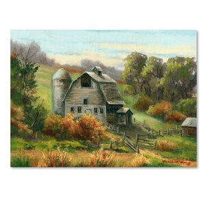 'Purdy's Barn' Print on Wrapped Canvas by Trademark Fine Art