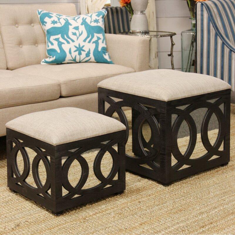 House of Hampton Yarm 2 Piece Cube Ottoman Set & Reviews   Wayfair