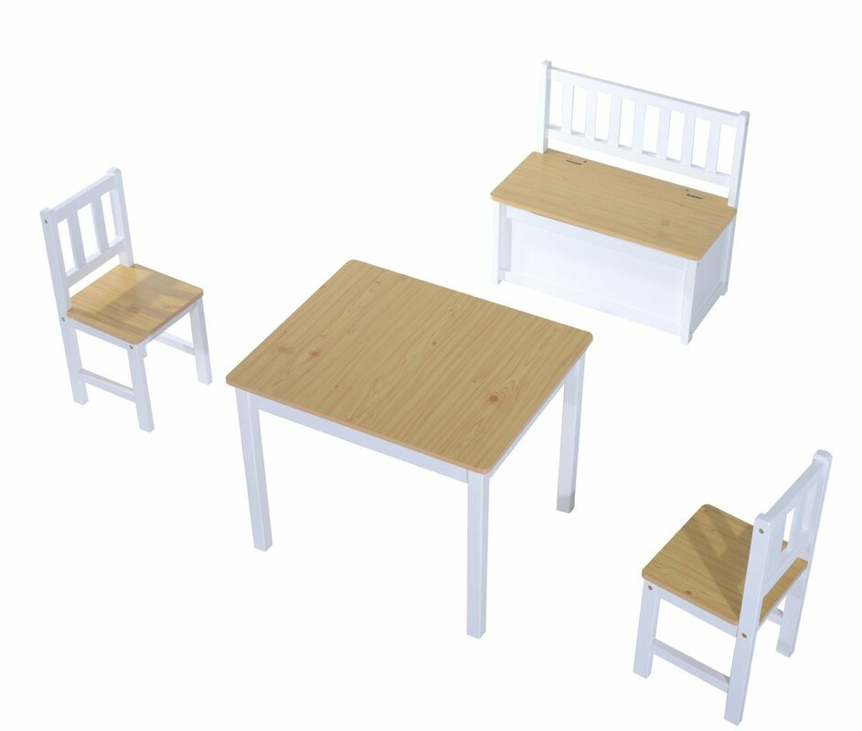 Hom 4 Tlg Kinder Tisch Und Stuhl Set & Bewertungen