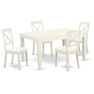 Septimus 5 Piece Solid Wood Dining Set ByAlcott Hill