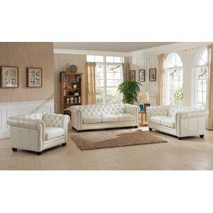 Crissyfield Leather Living Room Set by Rosdorf Park