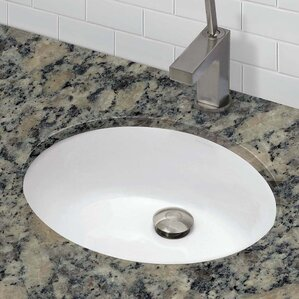 Covarrubias Ceramic Oval Undermount Bathroom Sink With Overflow