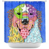Golden Retriever Dog Single Shower Curtain by East Urban Home