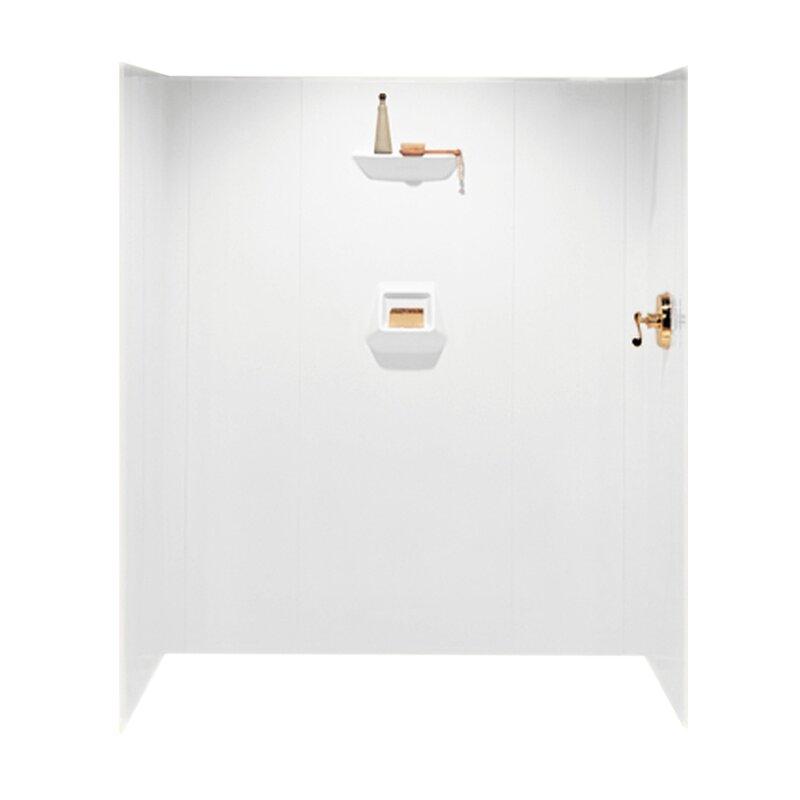 Swan Surfaces High Gloss Three Panel Shower Wall Kit | Wayfair