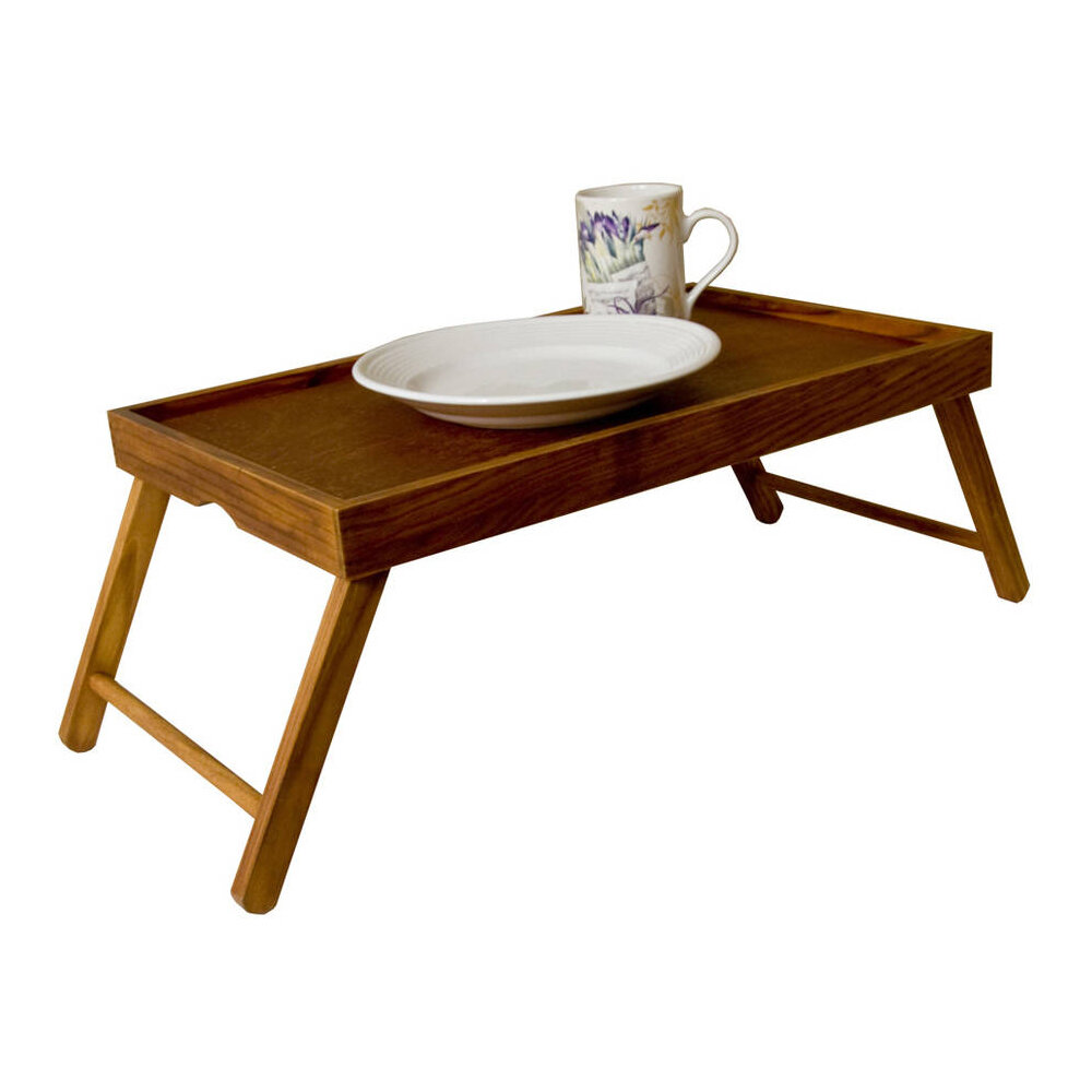 Sweet Home Collection Rustic Pine Wood Folding Legs Breakfast In Bed Food  Serving Laptop Tray Table U0026 Reviews | Wayfair