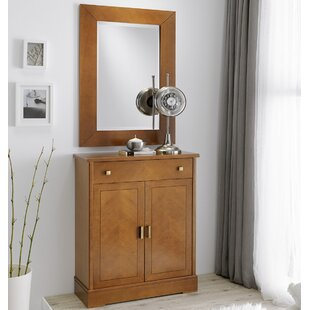 Hoboken 1 Drawer Sideboard with Mirror By Ivy Bronx