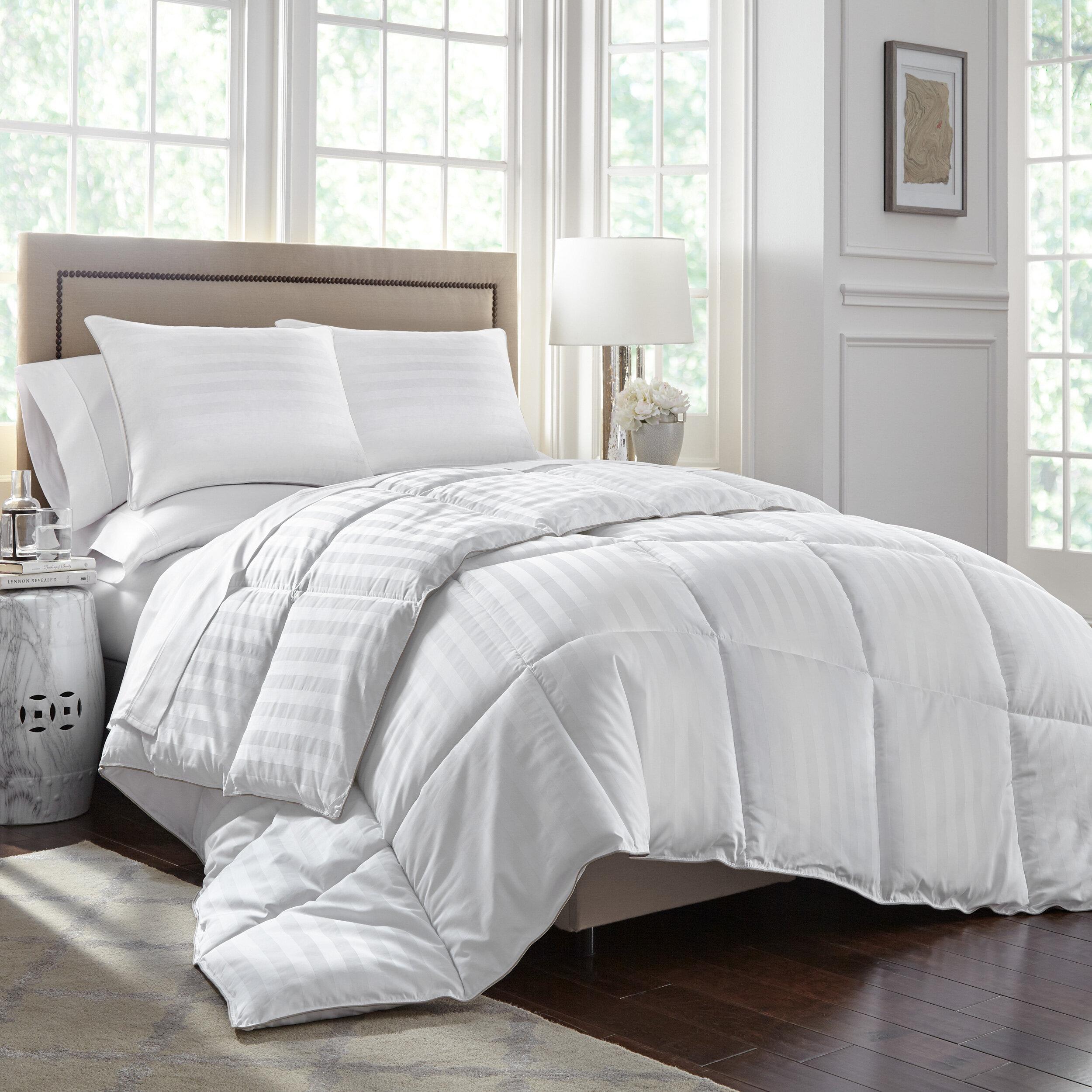 Duvets Beautiful Modern Cozy Warm Soft Luxurious Down Alt Stripe All Season Comforter Home Furniture Diy Omnitel Com Na