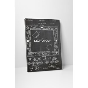 Patent Prints Monopoly Board Graphic Art on Wrapped Canvas by Pingo World