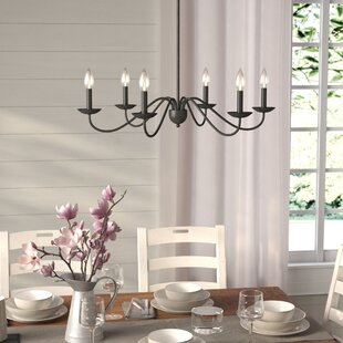 Farmhouse chandeliers birch lane farell 6 light chandelier aloadofball Images