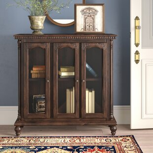 Georgetta Carved Glass 3 Door Accent cabinet