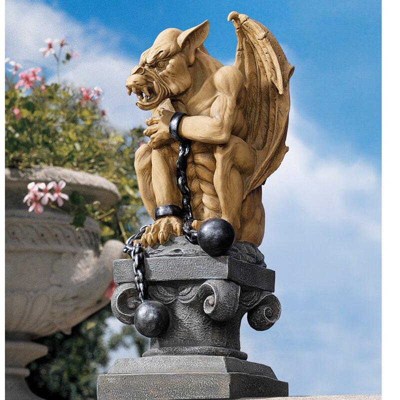 Ball-and-Chain Gothic Dungeon Gargoyle Statue