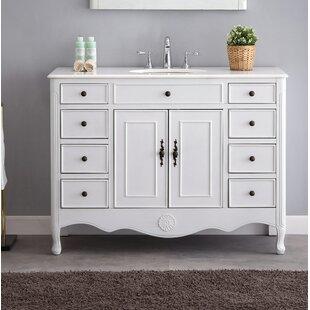 Buy clear Genevieve 47 Single Bathroom Vanity Set ByOne Allium Way