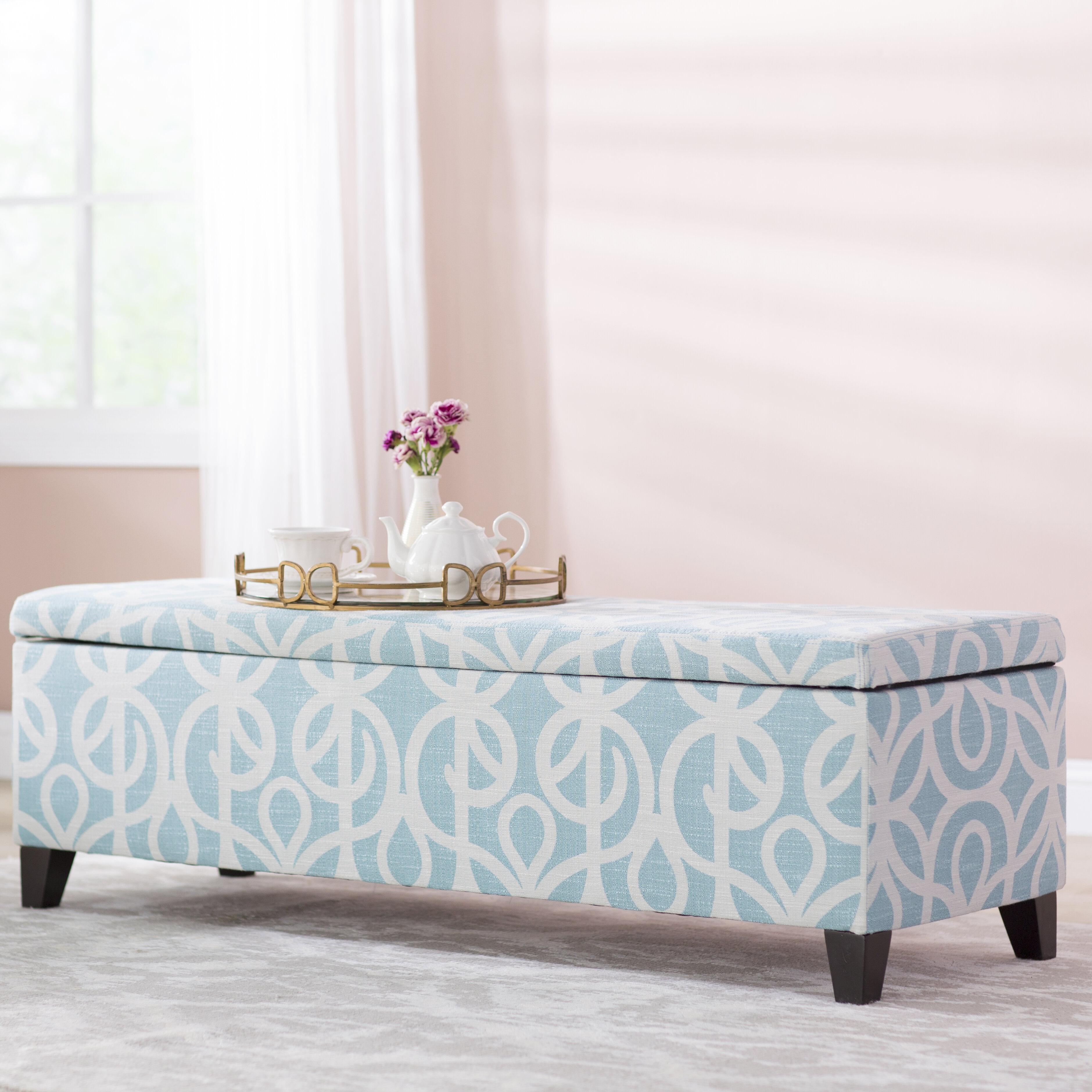 Charlton Home Adair Upholstered Storage Bench U0026 Reviews | Wayfair