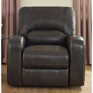 Woodhull Leather Power Recliner by Red Barrel Studio