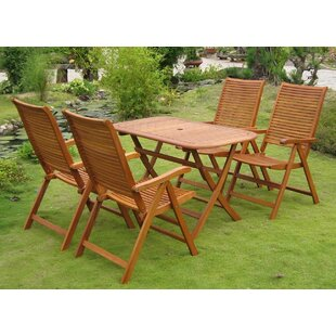 Sabbattus Vendrell 5 Piece Dining Set By Breakwater Bay