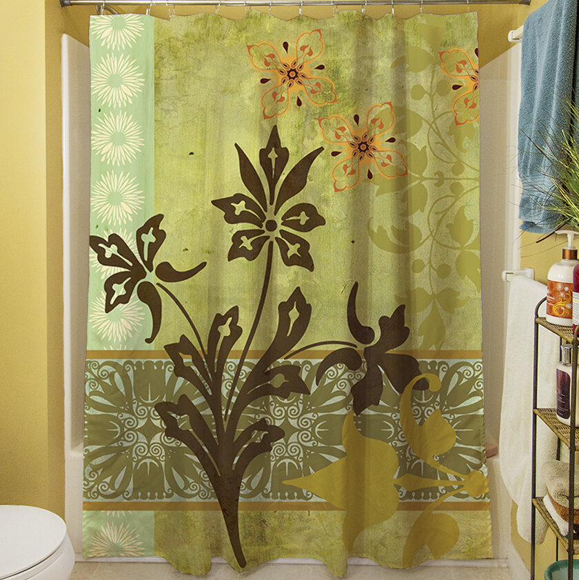 Manual Woodworkers Weavers Collage Blossoms Shower Curtain