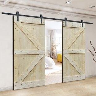 Solid core interior doors wayfair natural core knotty pine solid wood panelled slab interior barn door planetlyrics Image collections
