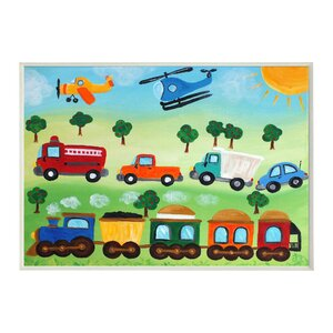 'Trucks, Trains, and Planes' Graphic Art Wall Plaque by Zoomie Kids