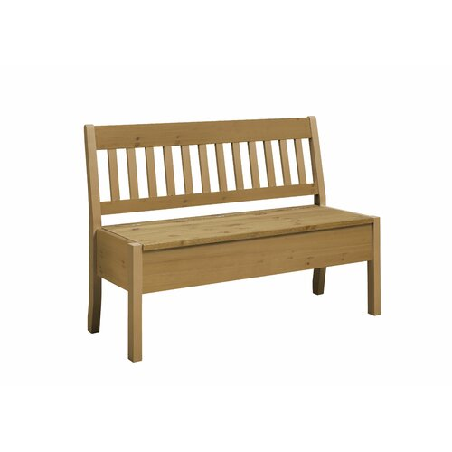 Xan Wood Storage Bench August Grove Colour: Leach-coloured,