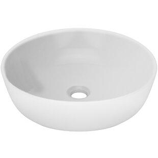 Price Check Nautilus Series Vitreous China Circular Vessel Bathroom Sink ByTicor Sinks