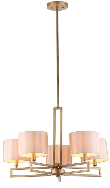 Cooperman 5-Light Shaded Chandelier