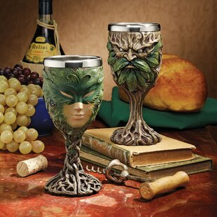 "NEW Cthulhu Octopus 8oz Wine Goblet Chalice Cup Resin w// Stainless Steel 6.5/""H"