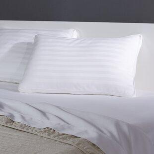 350 TC Gusseted Damask Stripe Down Alt Polyfill Jumbo Pillow (Set of 4)