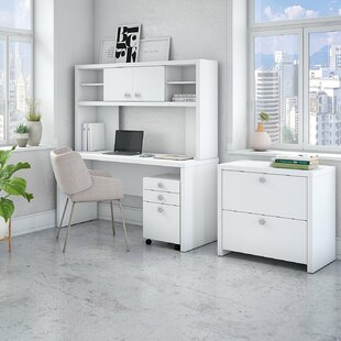 Echo 5 Piece Desk Office Suite By Kathy Ireland Office by Bush