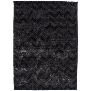 Bargain Decarlo Black/Dark Gray Area Rug By17 Stories