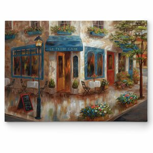 'Le Petit Cafe' by Nan Painting Print on Wrapped Canvas by Wexford Home