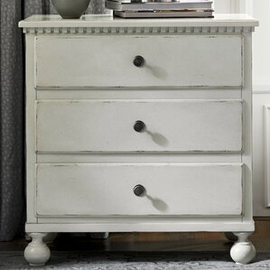 Mikah 3 Drawer Nightstand by One Allium Way