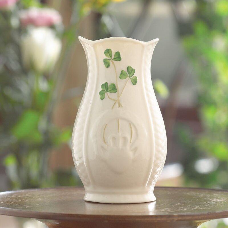 Belleek Shamrock Mini Celtic Vase Wayfair