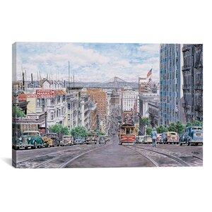 'Down California' by Stanton Manolakas Painting Print on Canvas by iCanvas