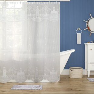 Inexpensive Huffman Shower Curtain ByBeachcrest Home