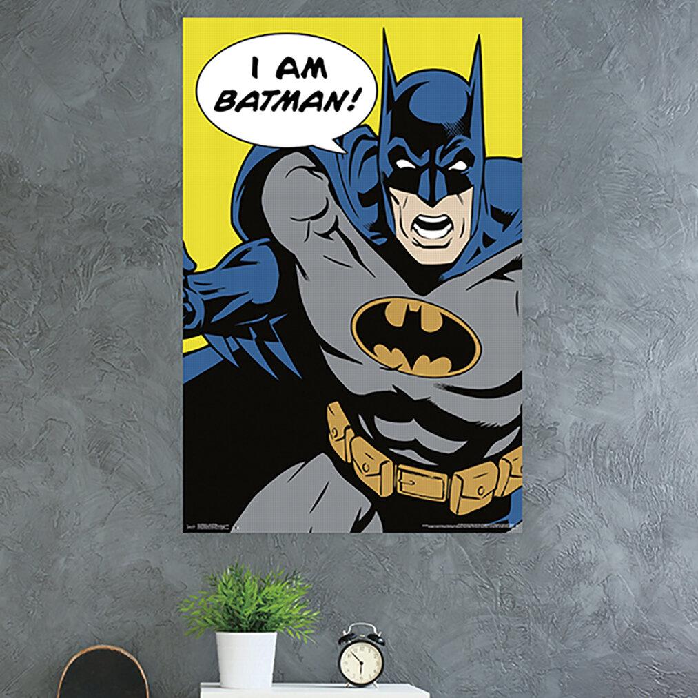 Trends International Batman I Am Batman Paper Print Wayfair