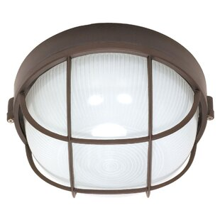 Compare Chante Rustic 1-Light Outdoor Bulkhead Light By Williston Forge