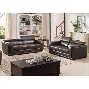 Calvin 2 Piece Leather Living Room Set