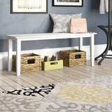 Castellon Wood Bench by Charlton Home