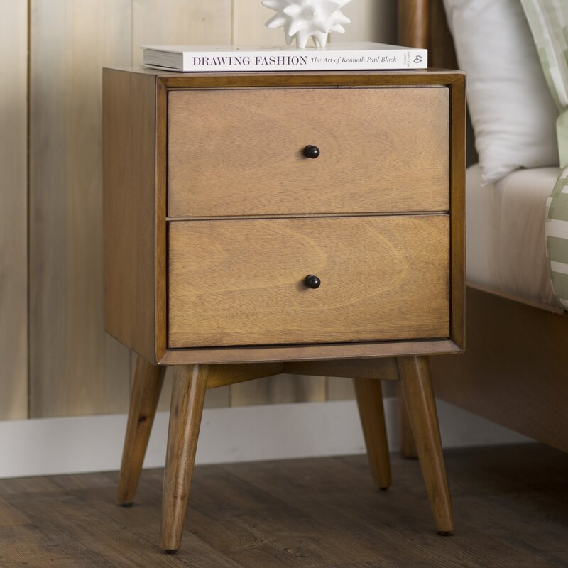 bedside end o pottery pull table nightstand drawer barn park mirrored products