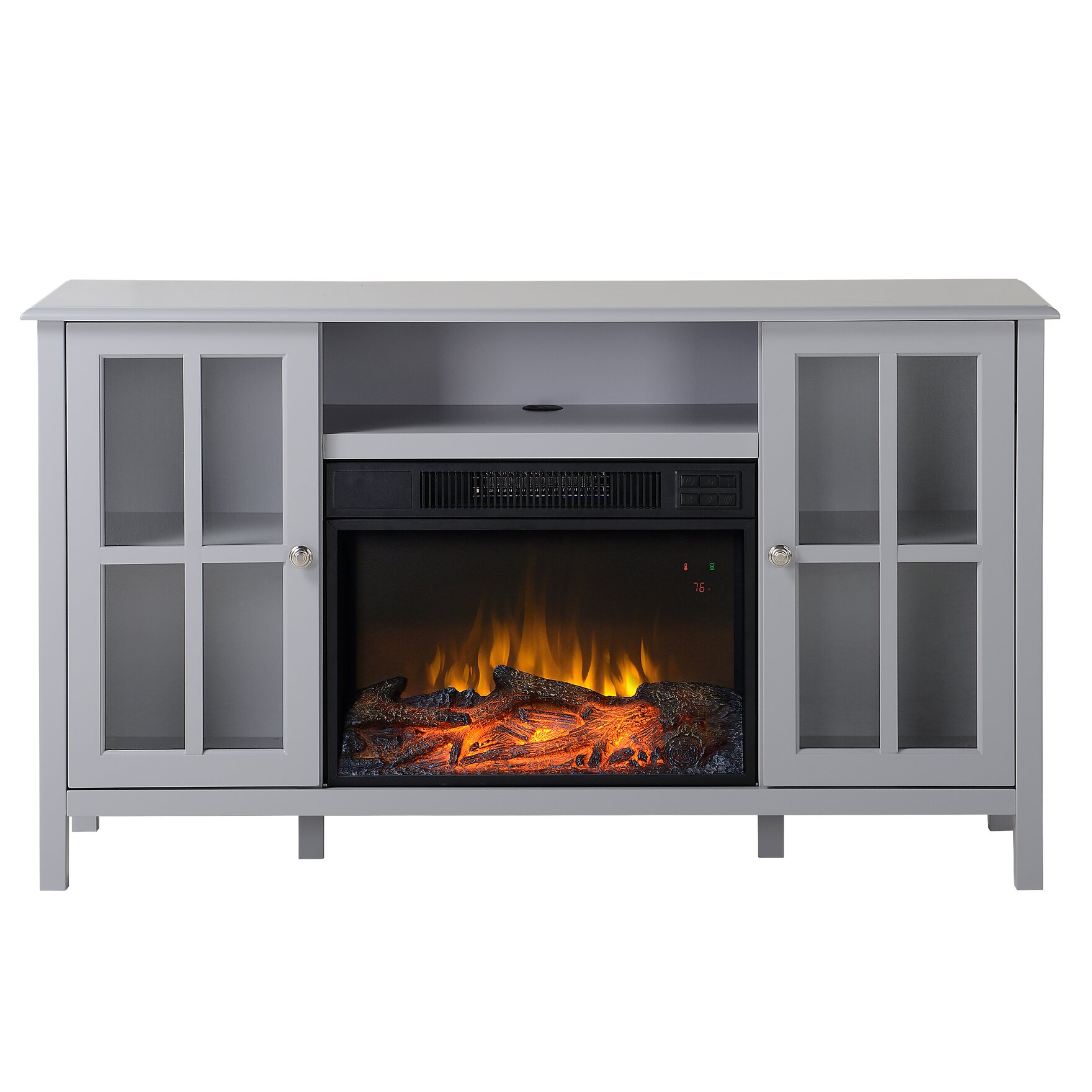 Homestar Langley 55 5 Tv Stand With Electric Fireplace Reviews