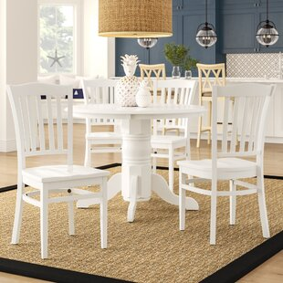 Langwater Traditional 5 Piece Solid Wood Dining Set