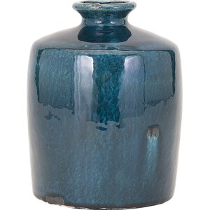Blue Trumpet Table Vase